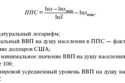 Формула для расчета ППС