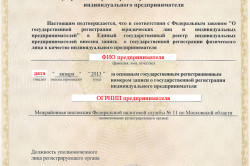 ОГРНИП для регистрации в ФСС