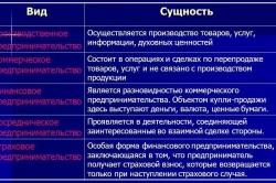 Основные виды деятельности ИП