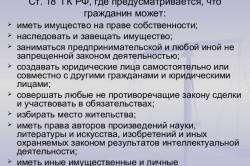 Статья 18 ГК РФ