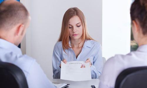 Получение отказа в приеме на работу