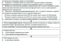 Этапы регистрации организации