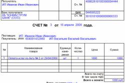 Правила оформления шетов-фактур