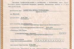 Пример свидетельства о постановке на налоговый учет